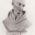 Buste de saint Bernard posé sur le socle Gruet XVIIe (Cliché Laignelet)
