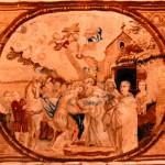 Tapisserie de l'entrée de saint Bernard à Cîteaux (XIXe siècle)