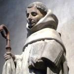 La statue de saint Bernard présentée à la bougie (2006)