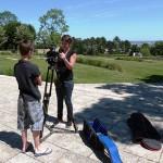 Présentation du site Saint Bernard et du vieux village pour l'émission « Le grand rendez-VOO d'été» du 22 août 2012, animée par Valentina Tosi sur VOO TV.