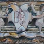 Retable de l'autel de la Compassion dans l'église Saint-Bernard. Aquarelle de Nicole Lamaille. 2013.