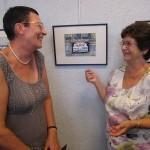 Vernissage de l'exposition « Murs murs » de Nicole Lamaille en 2013