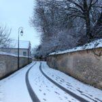 Traces dans la neige rue de Pouilly (Cliché Jean-Marie Combette).