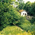 Jardin de l'ancien hôtel route de Daix