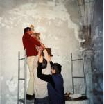 Pose de la Trinité du XVIe siècle restaurée (2006)