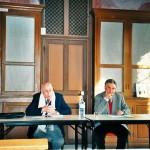 Journée d'étude consacrée à la famille Bretenières, organisée par la Maison des sciences de l'Homme, dans l'ancienne bibliothèque de la Maison natale non chauffée, le 23 novembre 2003 (Pierre Lévêque et Pierre Palau)