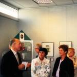 Vernissage de l'exposition « Le champ des signes » par Nicole Lamaille à la bibliothèque municipale en 2008