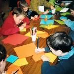 Origami : Le chien de saint Bernard pour la fête des anges et des saints (2003)